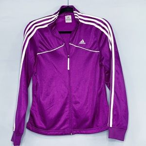 Adidas Dark Magenta zip jacket